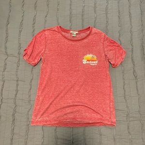 Women's pink Forever 21 graphic tee